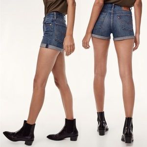 Levi's Wedgie Fit High Rise Button Fly Jean Shorts